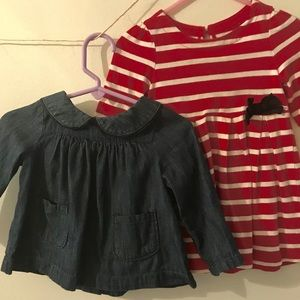 6-12 mo, Baby Gap Shirt & Dress ~ Spring Cute!🌸